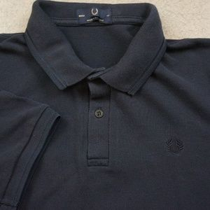 Fred Perry Polo Size 42 Made In England Blue